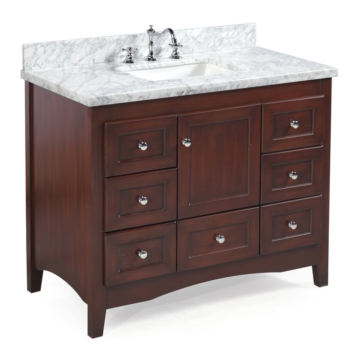 Abbey 42 Inch Vanity (Carrara/Chocolate)