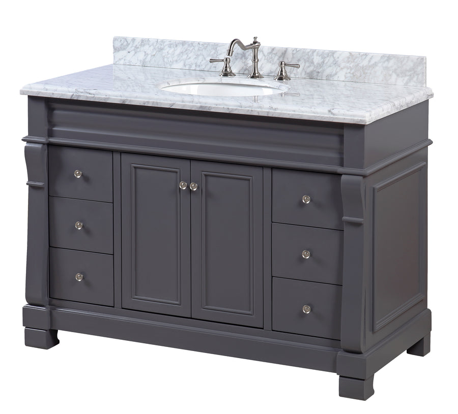 Westminster 48-inch Vanity (Carrara/Charcoal Gray)