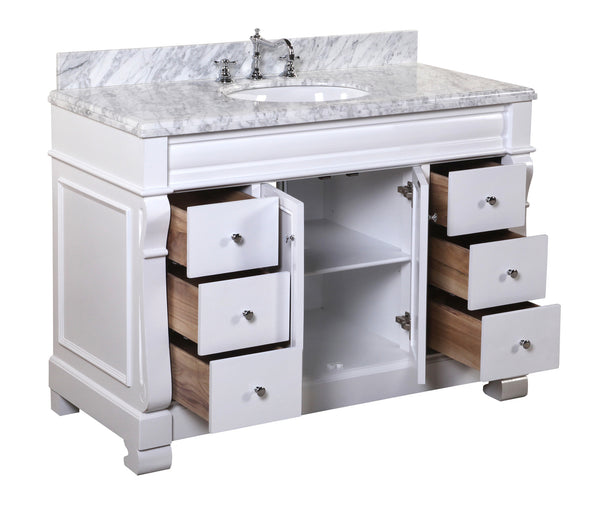 Westminster 48 Inch Vanity Carrara White Kitchenbathcollection