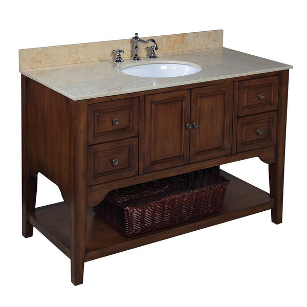Washington 48-inch Vanity (Travertine/Brown)