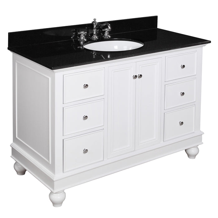 Bella 48-inch Vanity (Black/White)