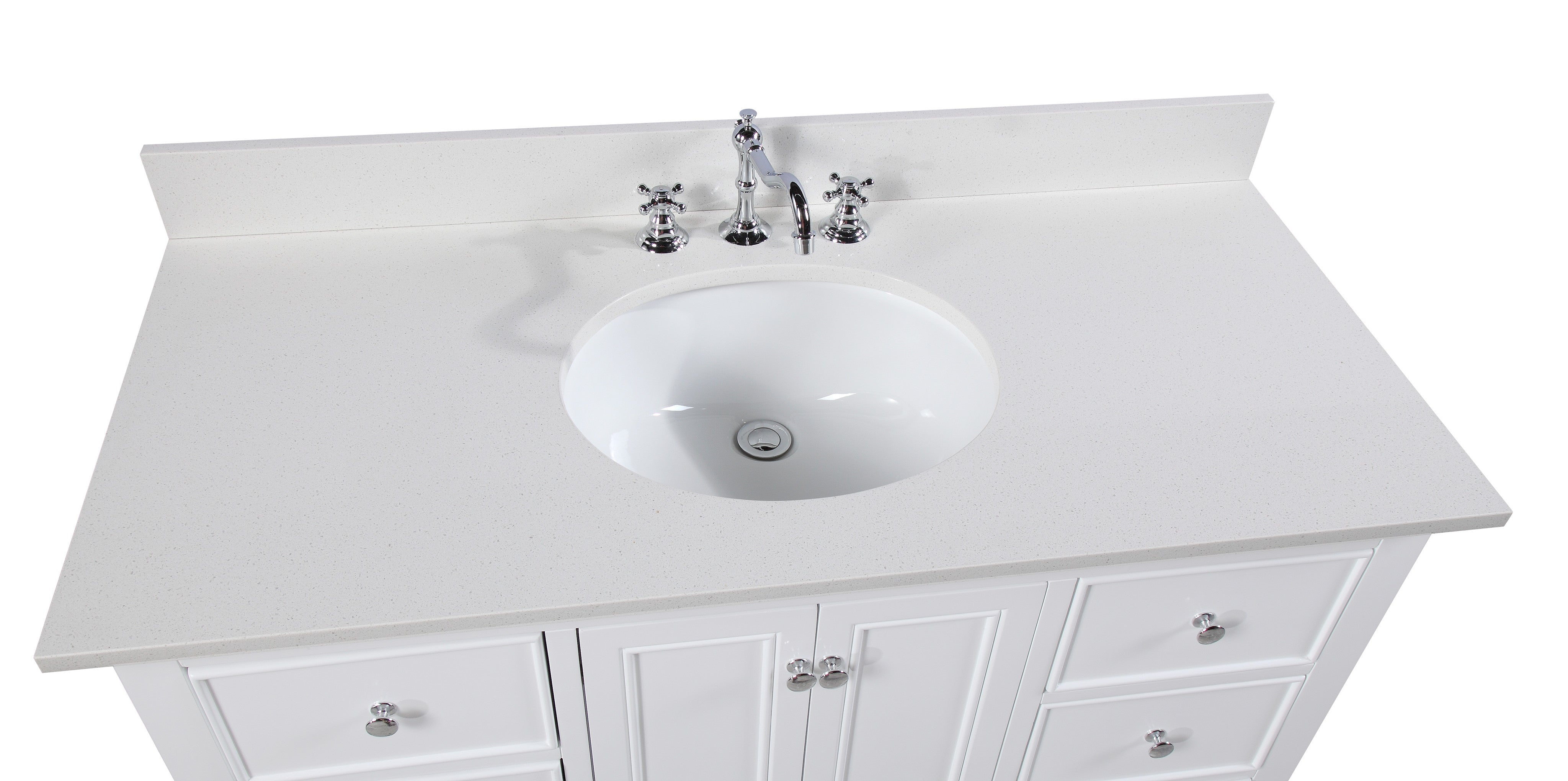 Bella 48-inch Vanity (Quartz/White)
