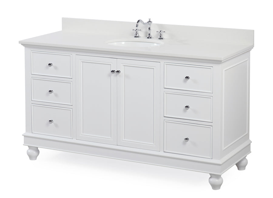Bella 60-inch Single (Quartz/White)