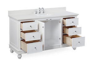Bella 60-inch Single Vanity with Quartz Top