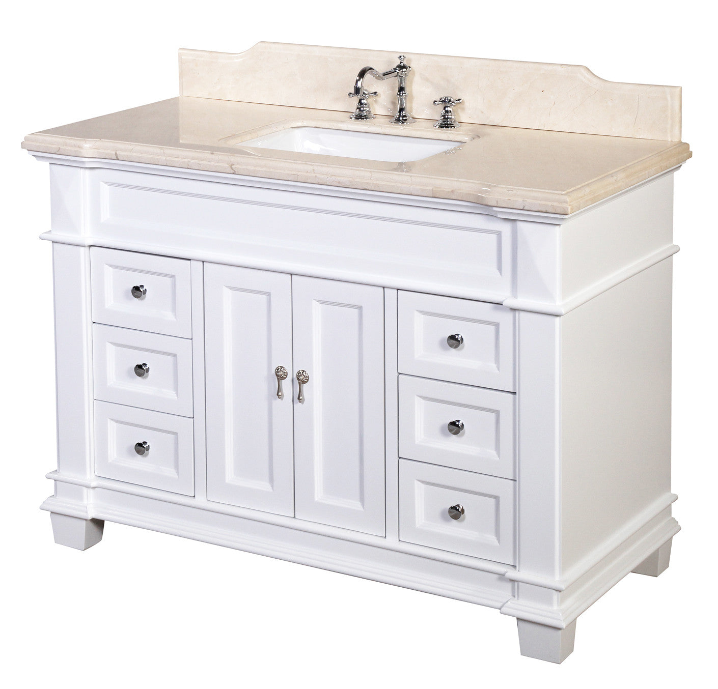 Outstanding Elizabeth 48 Inch Vanity Crema Marfil White Download Free Architecture Designs Embacsunscenecom