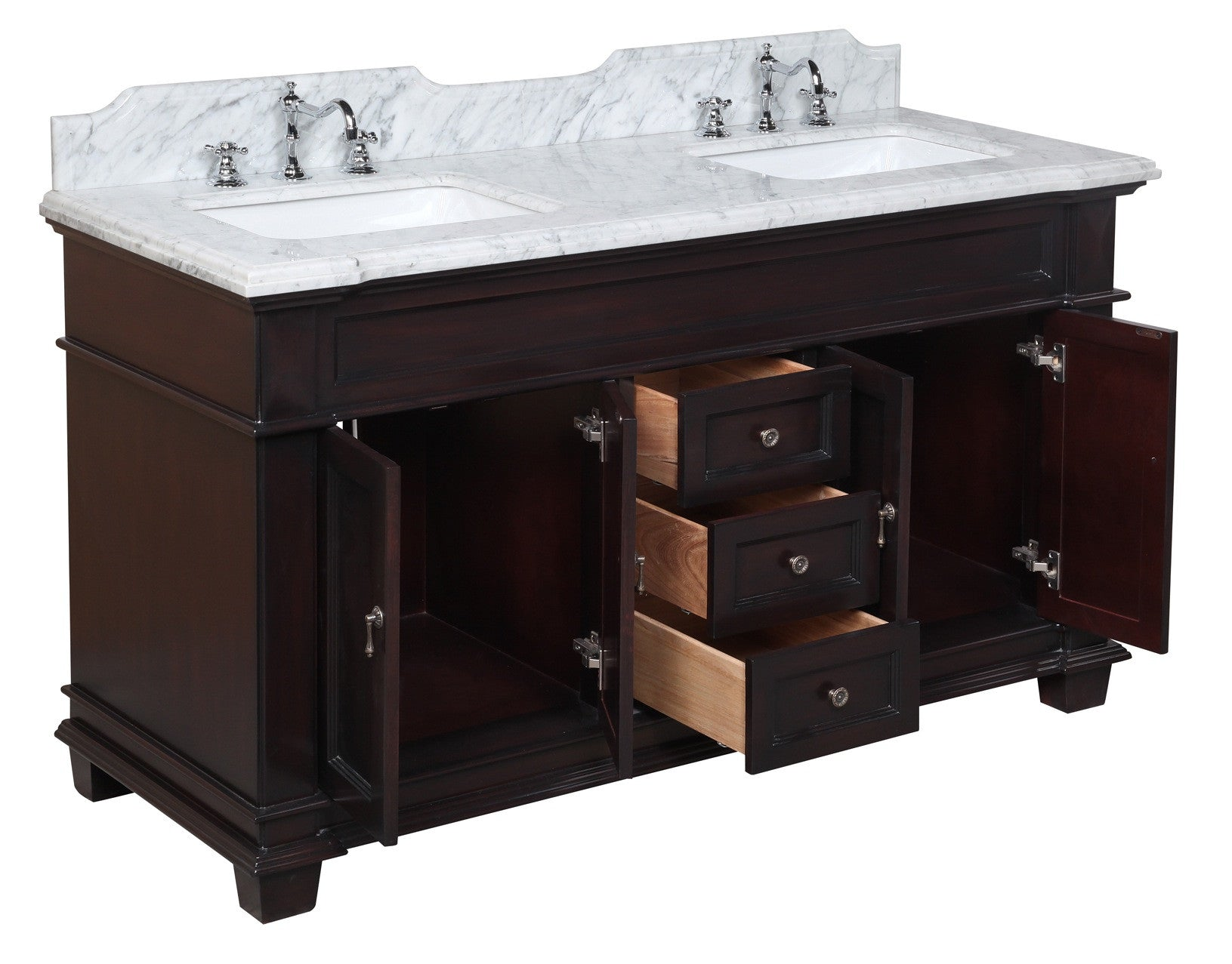 Elizabeth 60-inch Double (Carrara/Chocolate)
