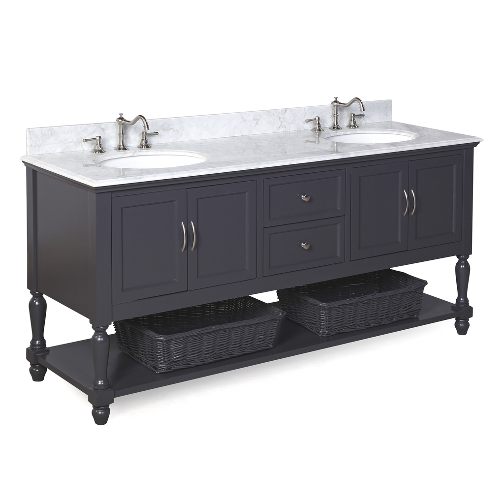 Beverly 72-inch (Carrara/Charcoal Gray)
