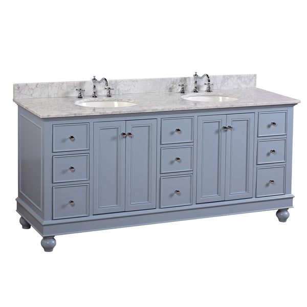 Bella 72-inch (Carrara/Powder Blue)