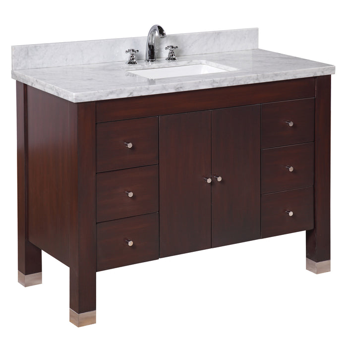 Riley 48-inch Vanity (Carrara/Chocolate)
