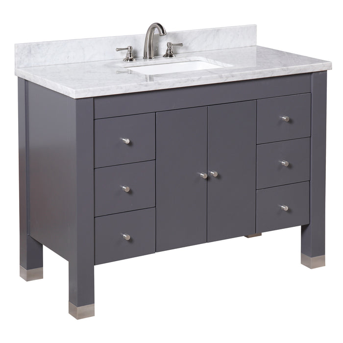 Riley 48-inch Vanity (Carrara/Charcoal Gray)