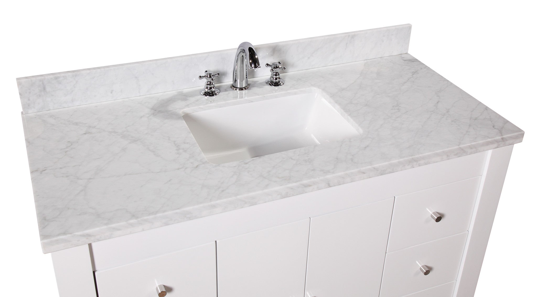 Riley 48-inch Vanity (Carrara/White)
