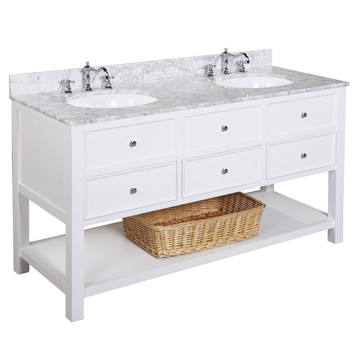 New Yorker 60-inch Double (Carrara/White)