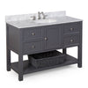 New Yorker 48-inch Vanity (Carrara/Charcoal Gray)