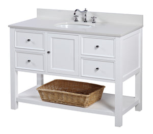 New Yorker 48-inch Vanity (Quartz/White)