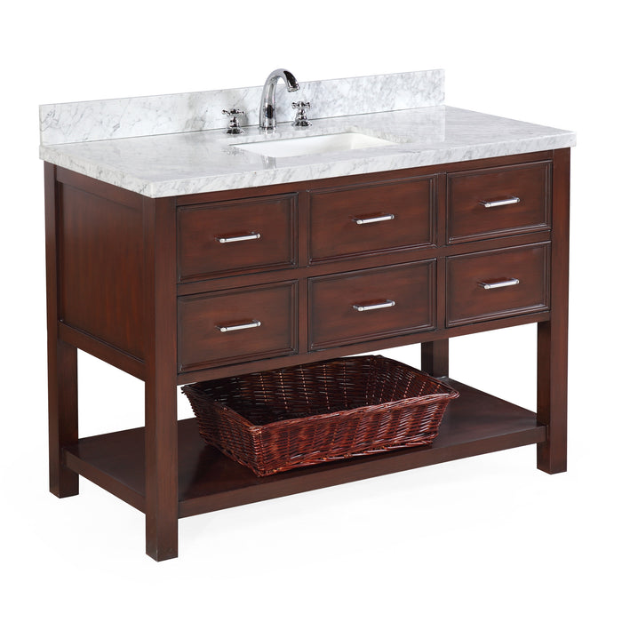 New Hampshire 48-inch Vanity (Carrara/Chocolate)