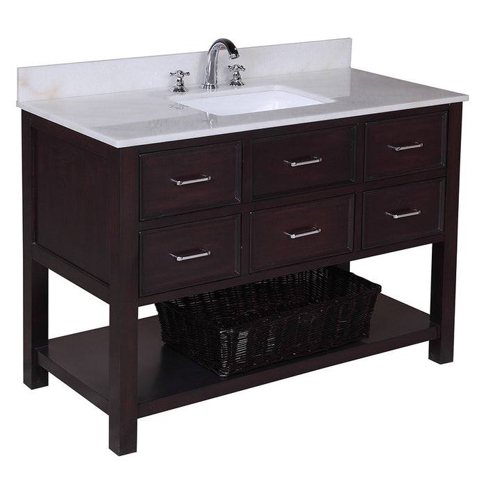 New Hampshire 48-inch Vanity (White/Chocolate)