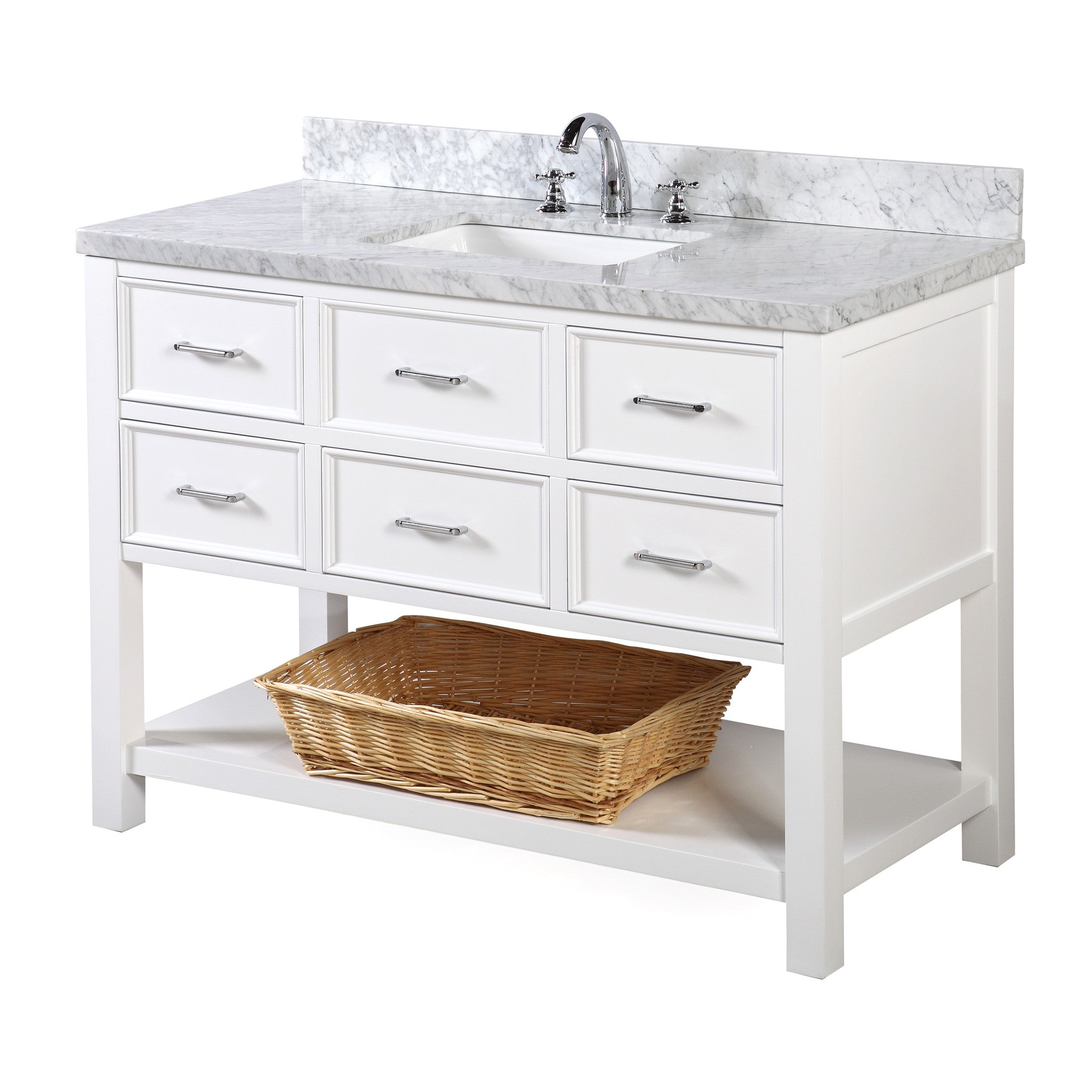New Hampshire 48-inch Vanity (Carrara/White)