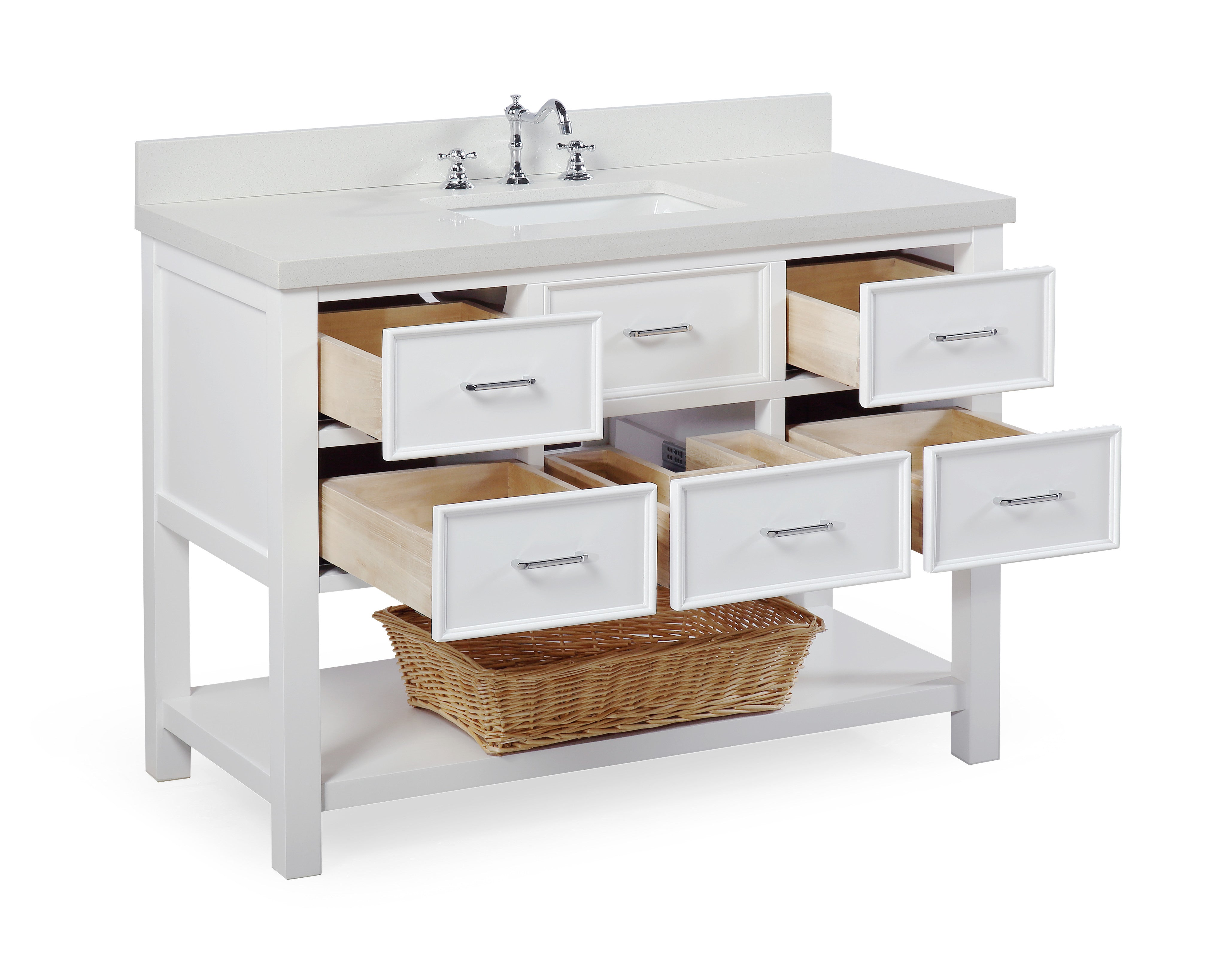 New Hampshire 48-inch Vanity (Quartz/White)