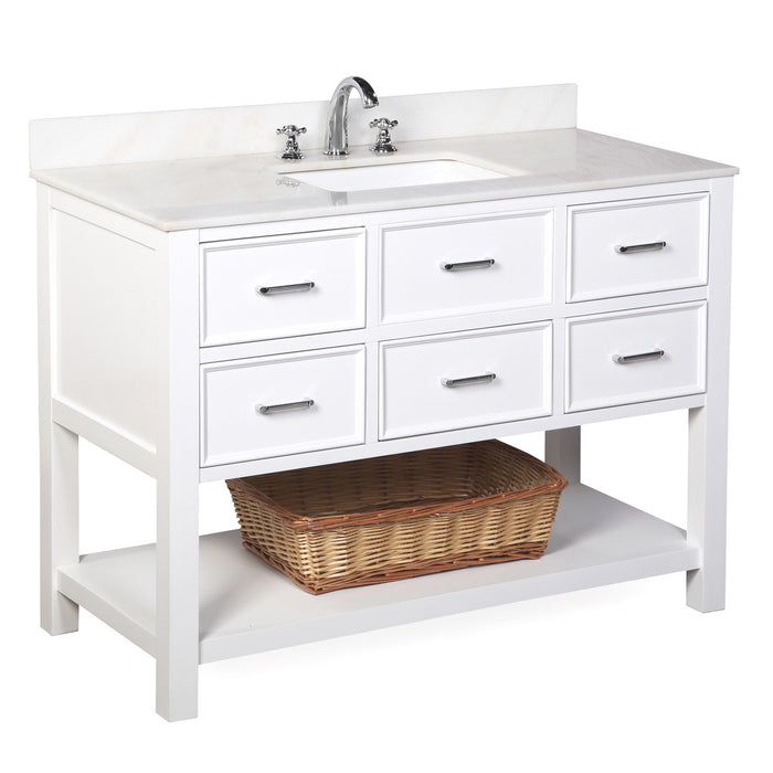 New Hampshire 48-inch Vanity (White/White)