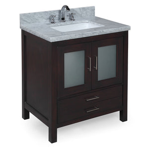 Manhattan 30-inch Vanity (Carrara/Chocolate)
