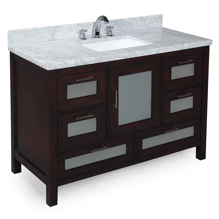 Manhattan 48-inch Vanity (Carrara/Chocolate)