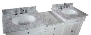 Buckingham 72-inch Vanity (Carrara/White)
