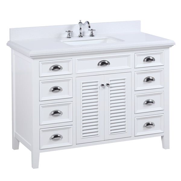 Savannah 48-inch Vanity (Quartz/White)