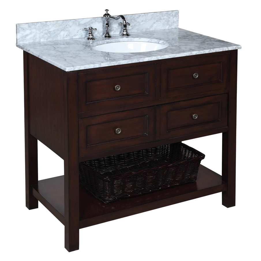New Yorker 36-inch Vanity (Carrara/Chocolate)