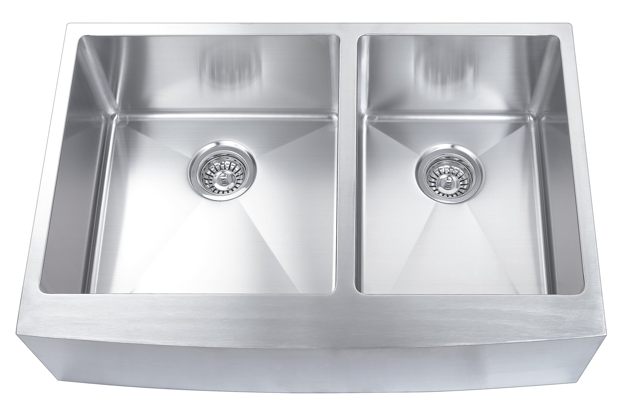 ... 33 Inch Farmhouse Stainless Steel Apron Kitchen Sink Set (Double Bowl)  ...