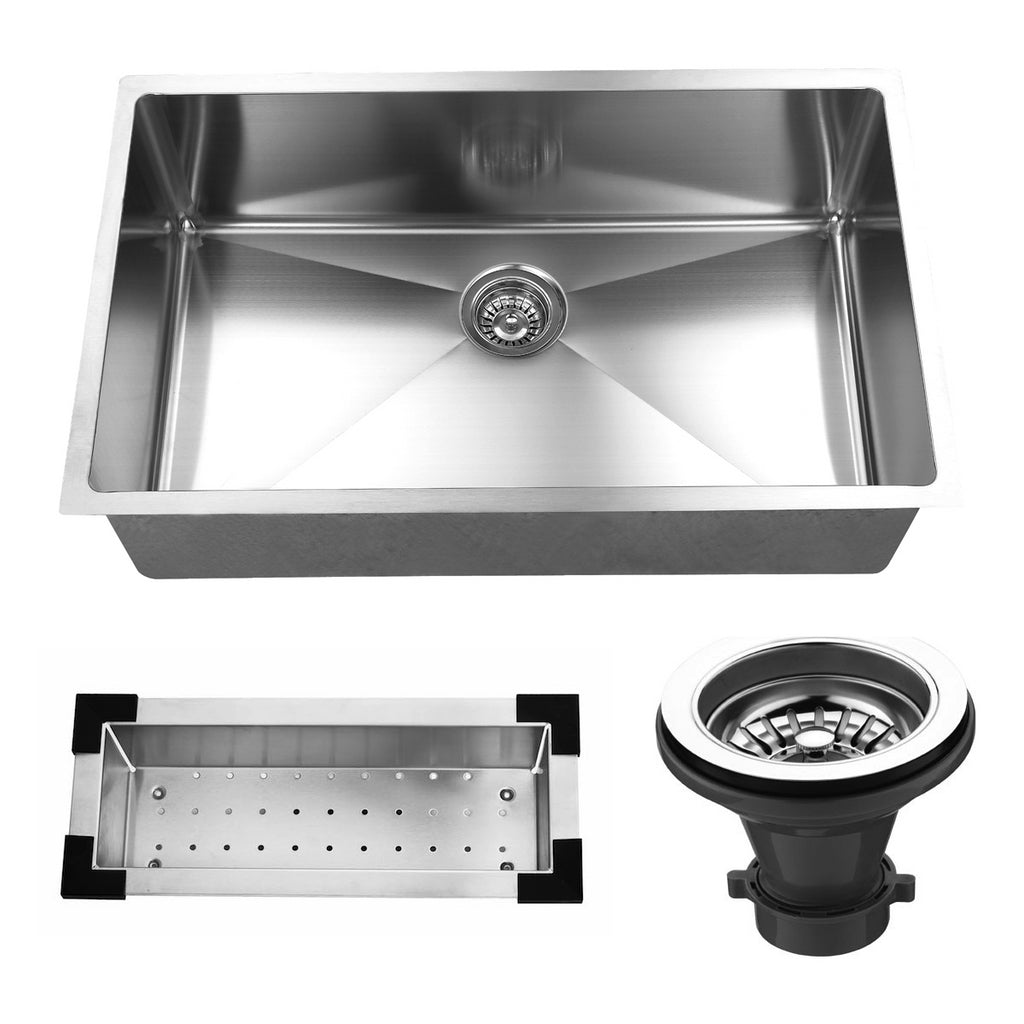 32-inch Undermount Stainless Steel Kitchen Sink Set (Single Bowl)
