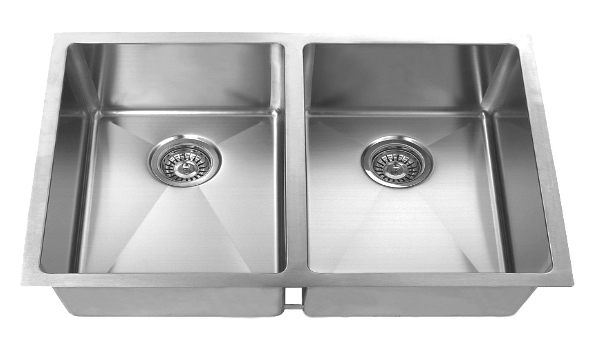 Medium image of     32 inch undermount stainless steel kitchen sink set  double bowl