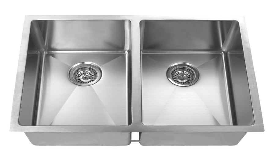 32-inch Undermount Stainless Steel Kitchen Sink Set (Double Bowl)