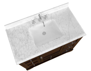 Madison 42-inch Vanity (Carrara/Chocolate)