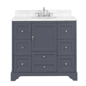 Madison 42-inch Vanity (Carrara/Charcoal Gray)