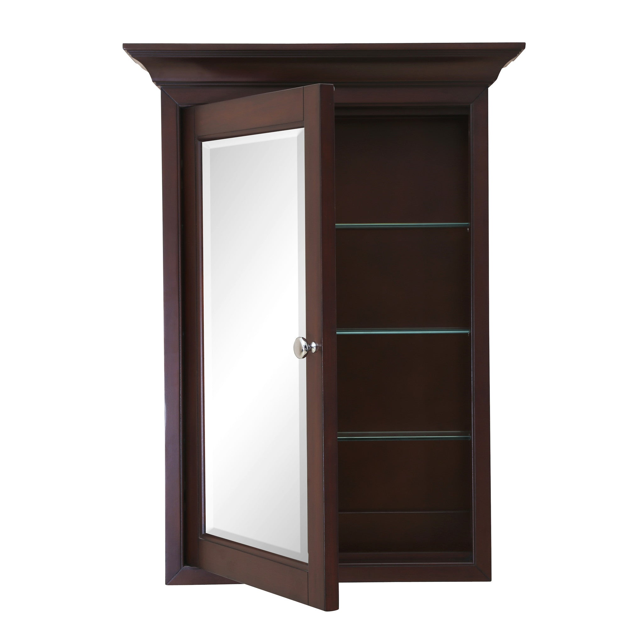 Newport wall mounted medicine cabinet chocolate Wall mounted medicine cabinet
