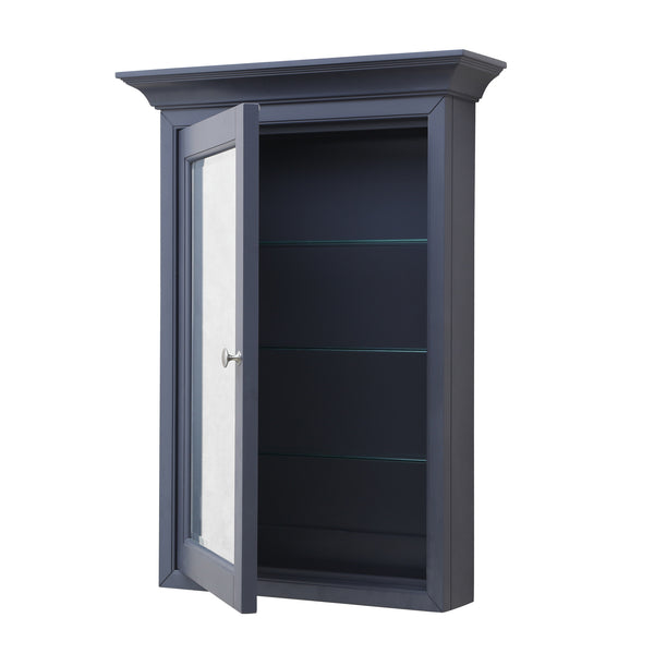 Newport Wall Mounted Medicine Cabinet Charcoal Gray