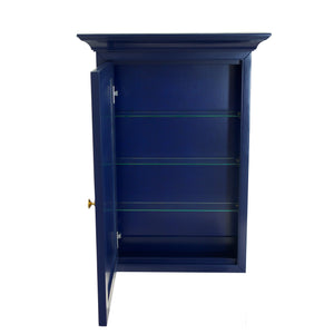 Newport Wall-Mounted Medicine Cabinet (Royal Blue)