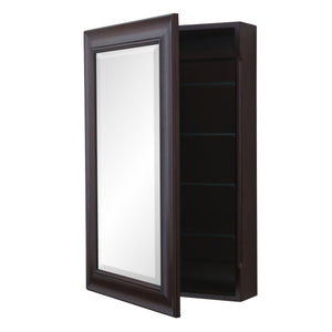 Napa Wall-Mounted Medicine Cabinet (Chocolate)