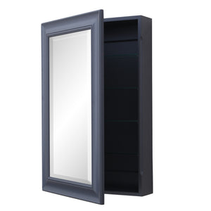 Napa Wall-Mounted Medicine Cabinet (Charcoal Gray)
