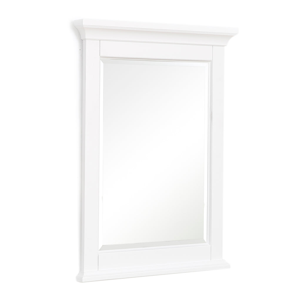 Newport 24-inch Wall Mirror (White)