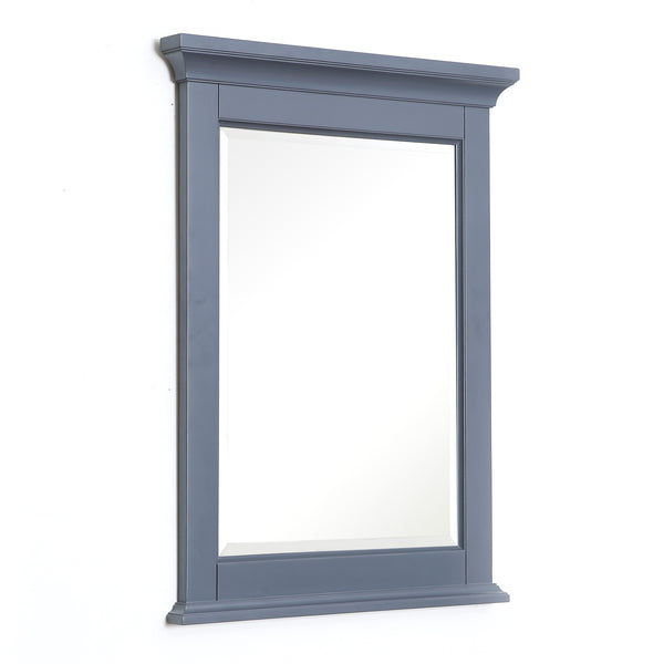 Newport 24-inch Wall Mirror (Charcoal Gray)