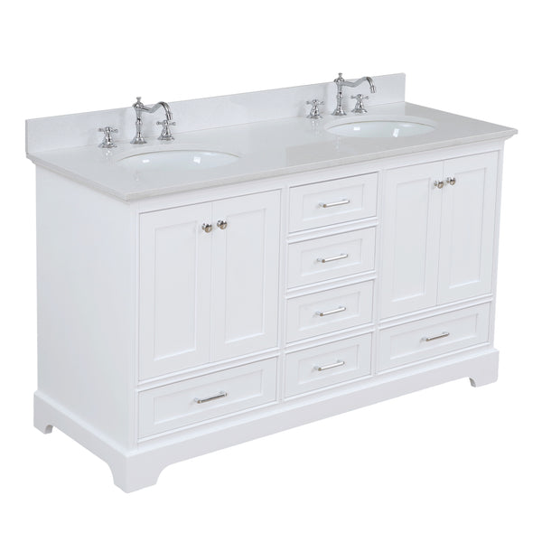 Harper 60-inch Double (Quartz/White)