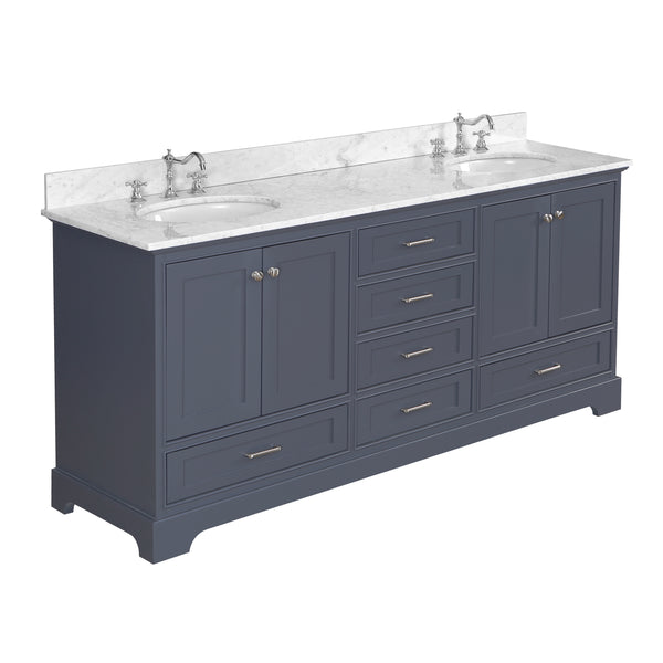 Harper 72-inch Double (Carrara/Charcoal Gray)
