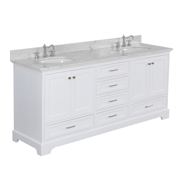 Harper 72-inch Double (Carrara/White)