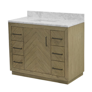 Noah 42-inch Vanity (Carrara/Gray Oak)