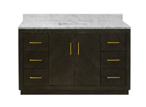 Peyton 60-inch Single Vanity with Carrara Marble Top