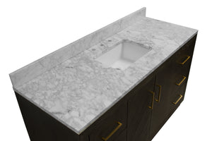 Peyton 60-inch Single Vanity (Carrara Marble)