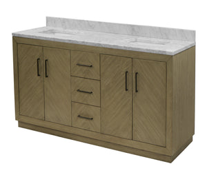 Peyton 72-inch Double Vanity with Carrara Marble Top