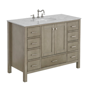 Horizon 48-inch Vanity (Quartz/Weathered Gray)