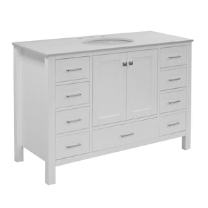Horizon 48-inch Vanity (Quartz/White)